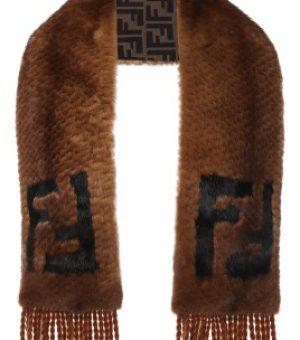 Большой меховый шарф
