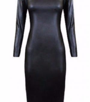 Длинное платье (замша, нубук, крег, наппа, кожа)