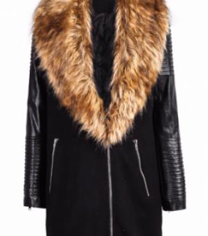 Пальто на искусственном меху