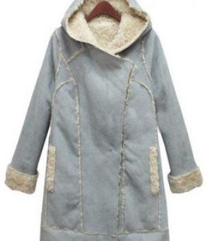 Пальто на подкладке из натурального меха 1 категории