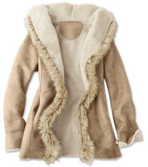 Пальто на подкладке из натурального меха 3 категории