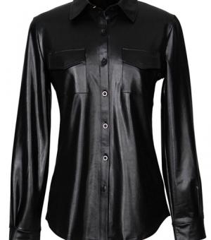 Женская блузка (кожа, замша)